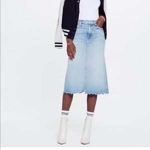 MOTHER | The Swooner Straight A Chew Skirt | 26